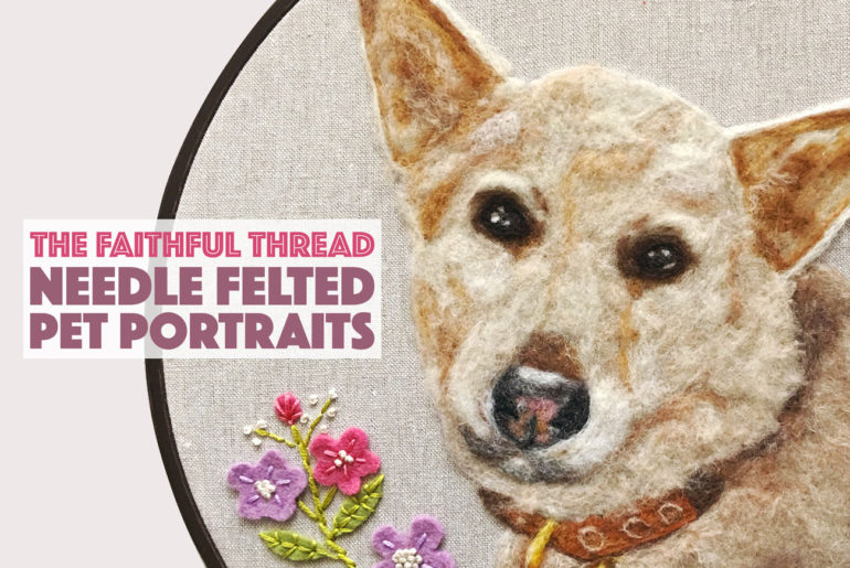 Have you ever wished for a custom portrait of your beloved pup? Inna of The Faithful Thread lovingly creates needle felted pet portraits that will help you celebrate your furry friends for years to come.