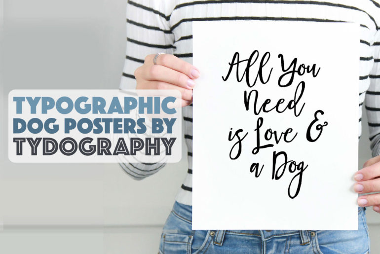 Tydography sells gorgeous printable typographic dog posters for the stylish pup lover! Best of all, they're absolutely affordable! Check out our interview with Tydography's founder and designer, Lisa, and take 20% off your purchase this month only with code THEBROKEDOG.