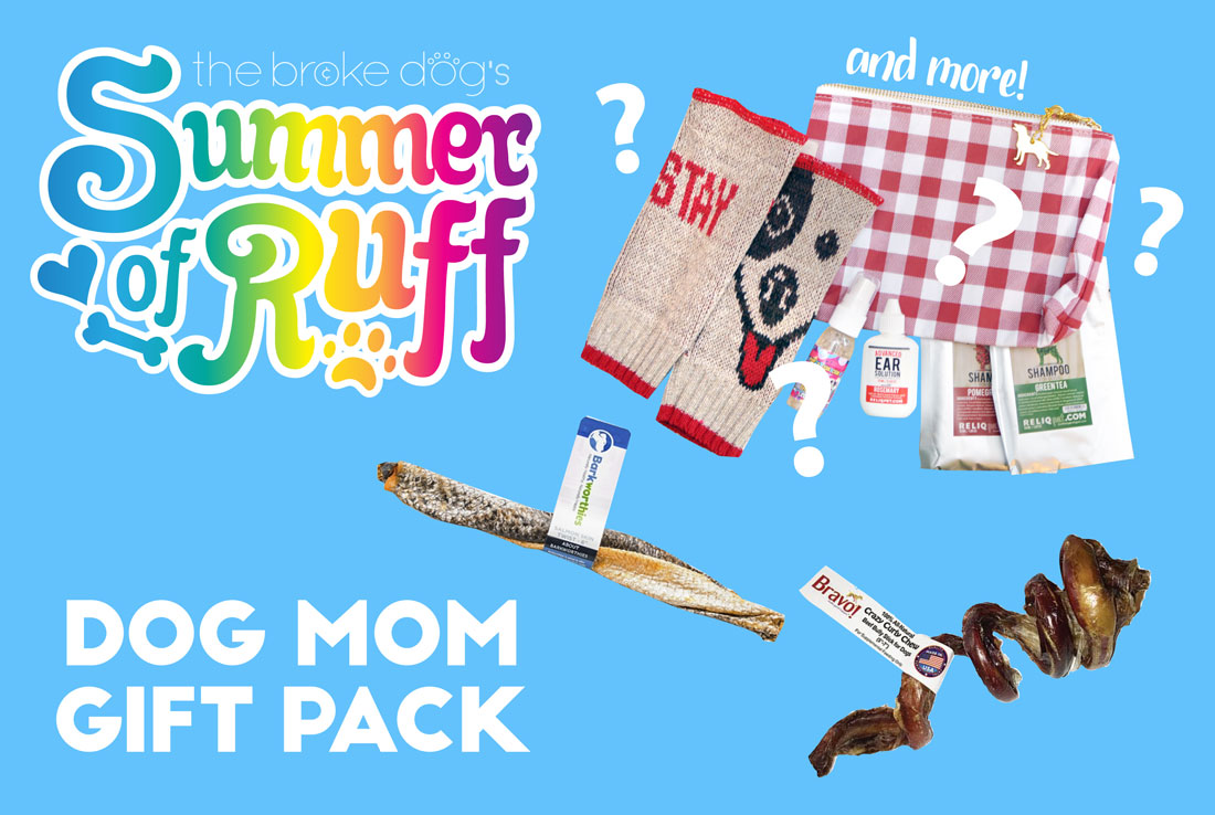 summer of ruff giveaway 6 dog mom gift pack the broke dog. Black Bedroom Furniture Sets. Home Design Ideas