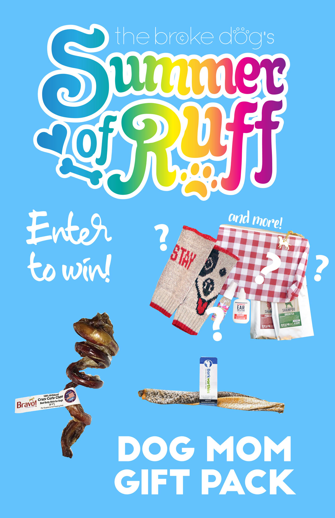"""We're back for Week 6 of our weekly Summer of Ruff giveaway series! This week, we're giving away a super fun gift pack I'm calling the """"Dog Mom"""" Gift Pack because it includes some goodies for you as well as for your dog!"""