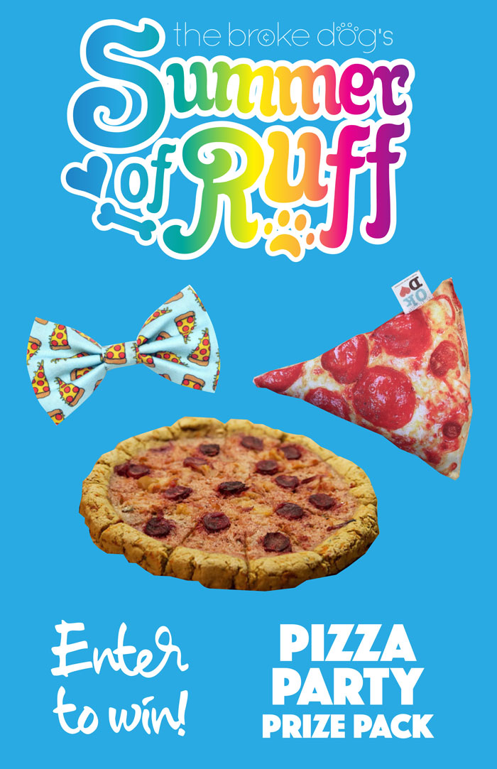 Did someone say PIZZA PARTY? For this week's Summer of Ruff giveaway, we're gettin' a little cheesy!