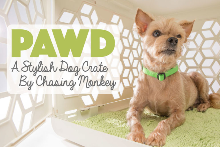 Amy Kim of Chasing Monkey had one goal when she launched PAWD: to create a premium, stylish dog crate that is also affordable.  She succeeded! This crate is functional, gorgeous, and portable with a target price well under $100. Want to learn more? Check out our interview with Amy and enter to win one of your own!