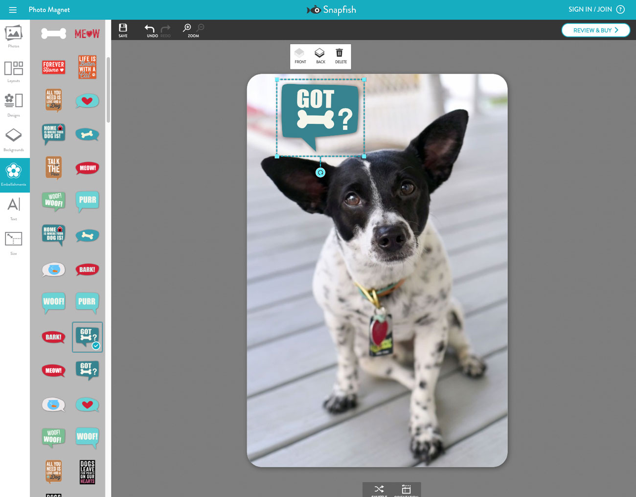 Sick of burying your favorite dog photos on your hard drive? Snapfish offers affordable and adorable photo gifts for pet lovers!